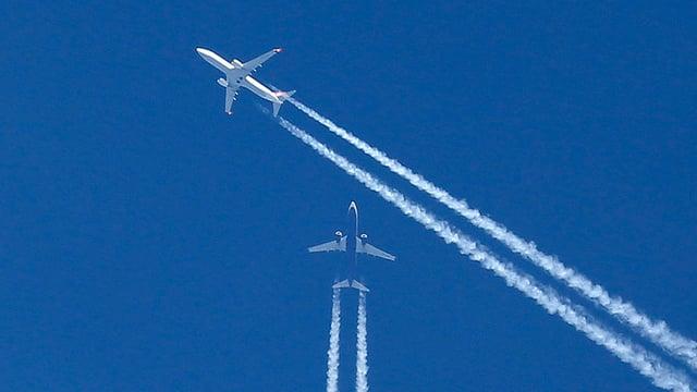 Zwei Flieger in der Luft