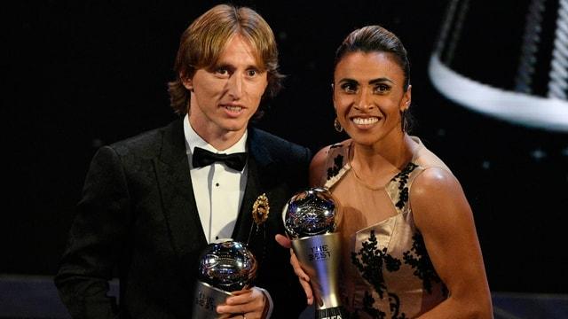 Ils dus victurs Luka Modric e Marta