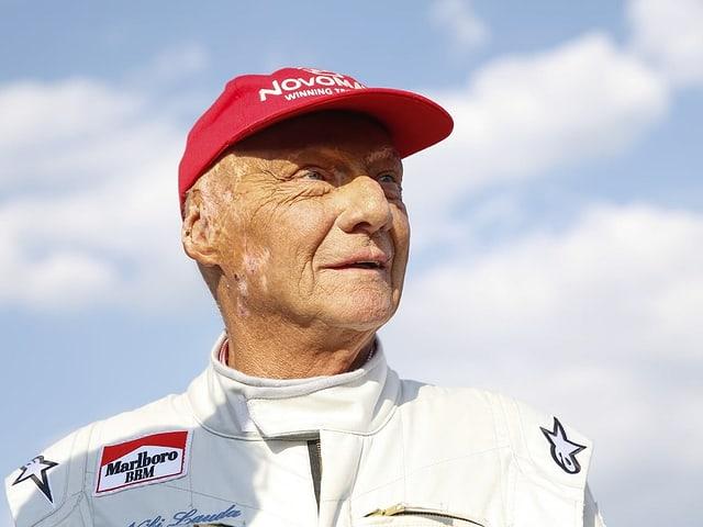 Mann mit roter Mütze - Niki Lauda