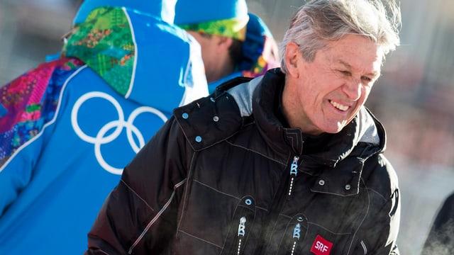 Bernhard Russi an den Olympischen Winterspielen in Sotschi.