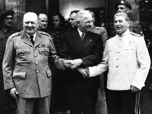 Winston Churchill, Harry Truman und Josef Stalin