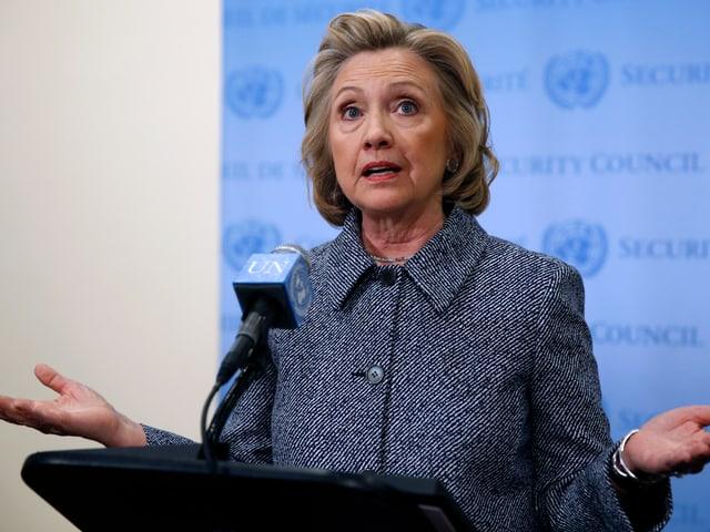 Hillary Clinton bei einer Rede.