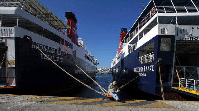 Las navettas en Grezia stattan en il port ils proxims dus dis.
