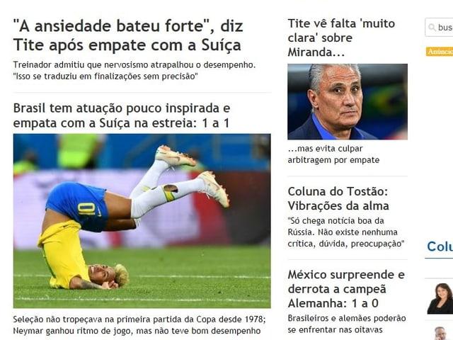 Schlagzeilen des Jornal do Brasil