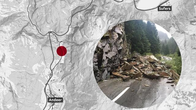 La via chantunala è serrada il mument.