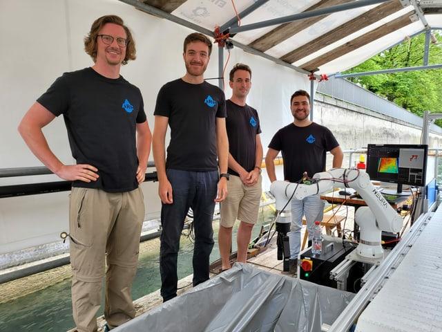 Die vier Gründer des Projektes