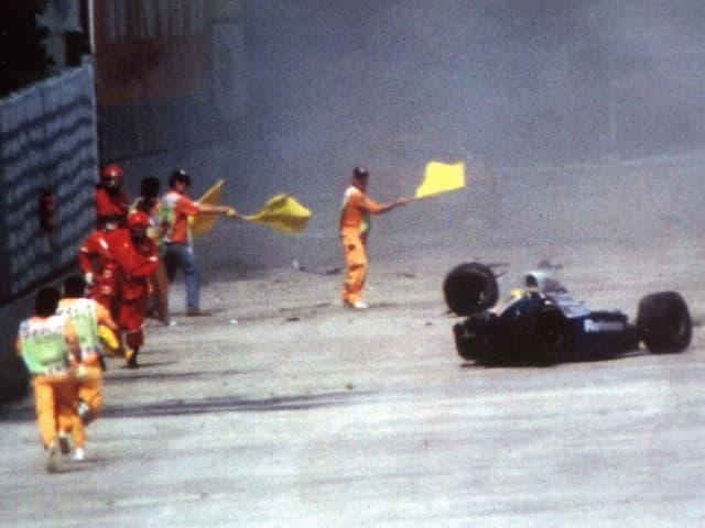 Unfall von Ayrton Senna.