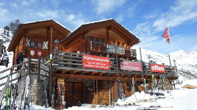 Video «Restaurant Les Marmottes in Zermatt (VS) - Tag 1» abspielen