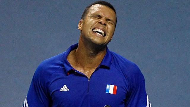 Jo-Wilfried Tsonga nach der Niederlage gegen Peter Gojowczyk.