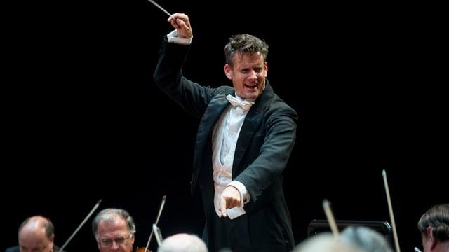 Der Schweizer Dirigent Philippe Jordan am Menuhin-Festival Gstaad.