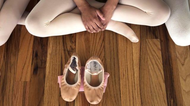 Eine Ballettänzerin in New York.