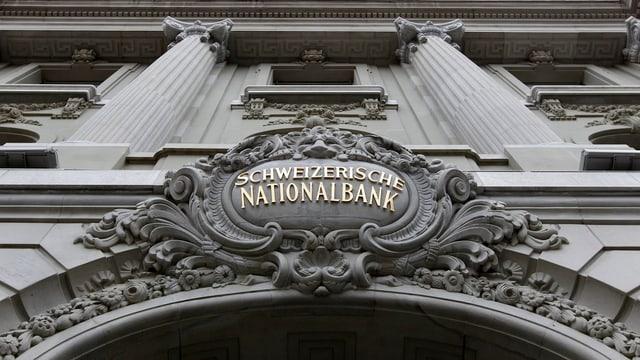 Logo der Schweizerische Nationalbank am Hauptsitz.