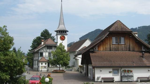Ansicht der Kirche Belp