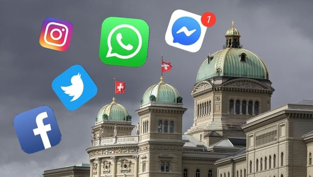 Chasa federala e simbols da social media