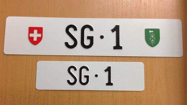 Autokennzeichen St. Gallen 1