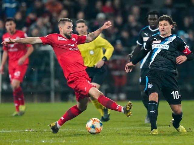 Das Spiel zwischen dem FC Winterthur und den Grasshoppers.