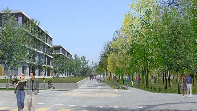 Visualisierung eines Quartiers