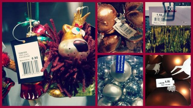 Ein Check im Weihnachtsdschungel zeigt: Vieles ist Made im Ausland.