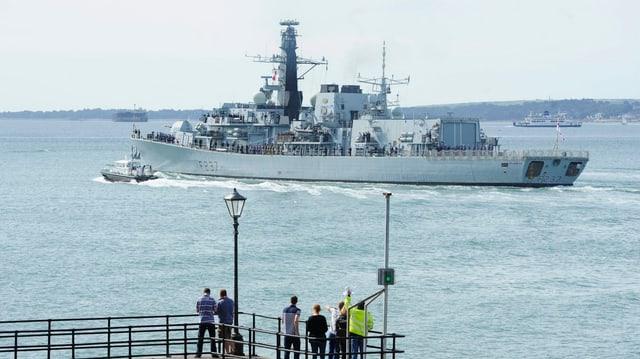 Die britische Fregatte «HMS Westminister»