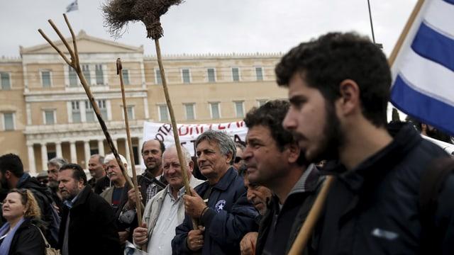 Bauern in Athen