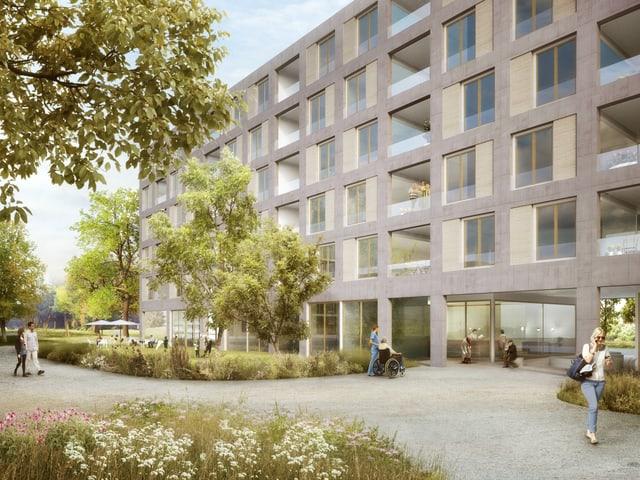 Projektbild der geplanten Wohnüberbauung.