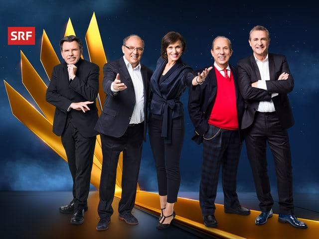 Gruppenbild mit Stefan Klapproth, Bernhard Turnheer, Gabriela Amgarten, Raymond Fein und René Rindlisbacher
