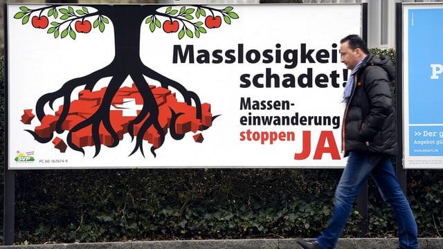 Plakat für die Masseneinwanderungsinitiative.