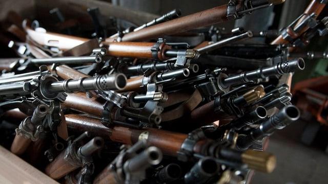 Abgegebene Waffen.