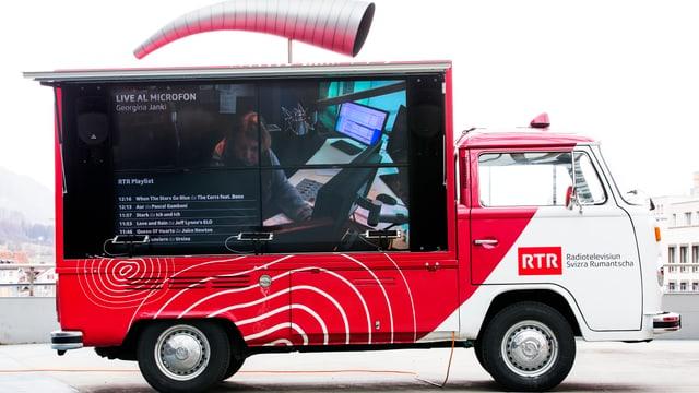 In VW-bus da promoziun.