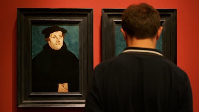 Luther auf einem Gemälde.