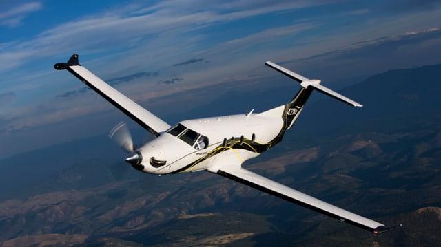 PC-12 in der Luft