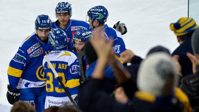 Die Spieler des HC Davos konnten bisher oft jubeln.