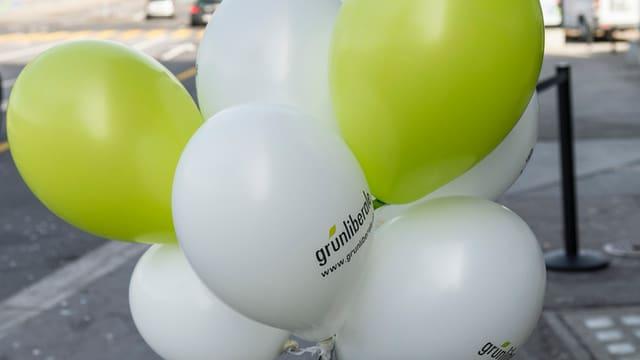 Werbeballons der Grünliberalen