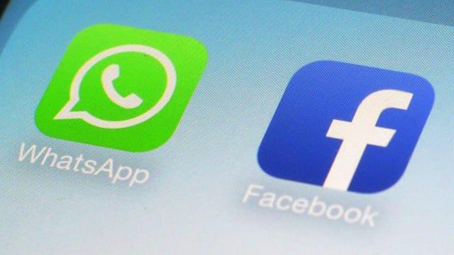 Icons von Facebook und WhatsApp.