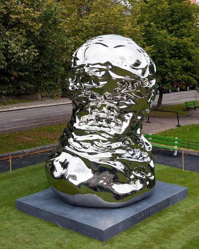 Skulptur zu ehren von Louis Chevrolet in La Chaux-de-Fonds.