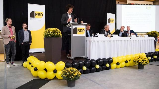 Radunanza da delegads da la PBD a Grenchen en il chantun Solothurn.