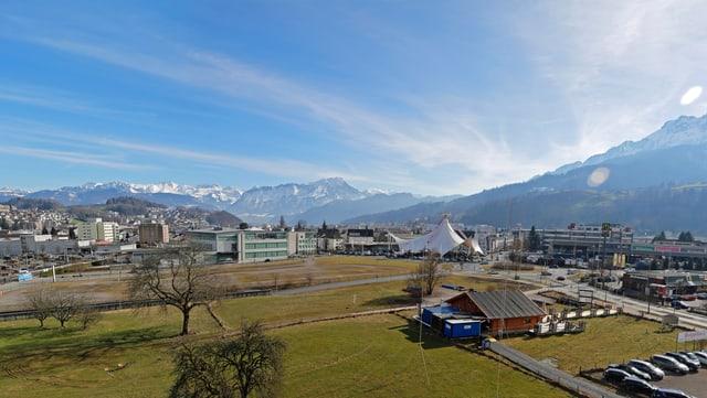 Ansicht des Mattenhof-Areals bei der Luzerner Allmend