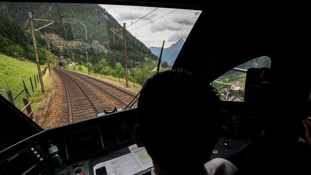 Lokführer auf der Gotthard-Bergstrecke
