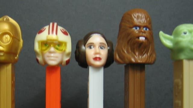 Star-Wars-Figuren als Plastikbehälter für Bonbons.