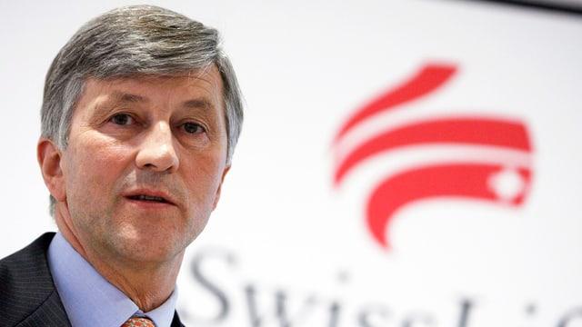 Rolf Dörig, CEO Swiss Life, spricht anlässlich einer Medienkonferenz. (keystone)