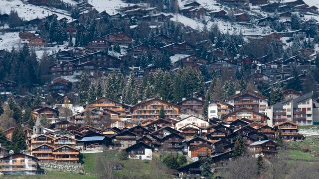 Der Tourismusort Verbier im Wallis