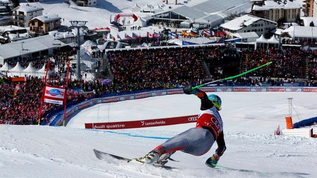 Skirennfahrer in der Lenzerheide