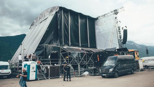 Auf der Backstage-Tour für einmal hinter die Kulissen eines grossen Festivals geschaut.