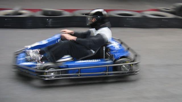 Gokart-Fahrer
