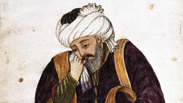 Porträt des persischen Dichters Hafis.