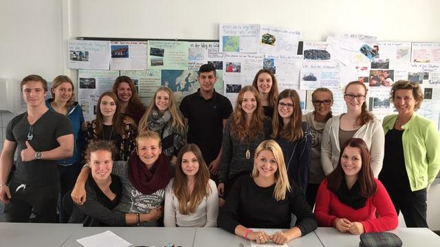 Berufsschüler der Allgemeinen Berufsschule Zürich ABZ (ganz rechts Lehrerin Heidi Giger)