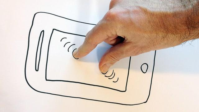 Zoomen mit zwei Findern auf Touch-Bildschirmen: patentierbar?