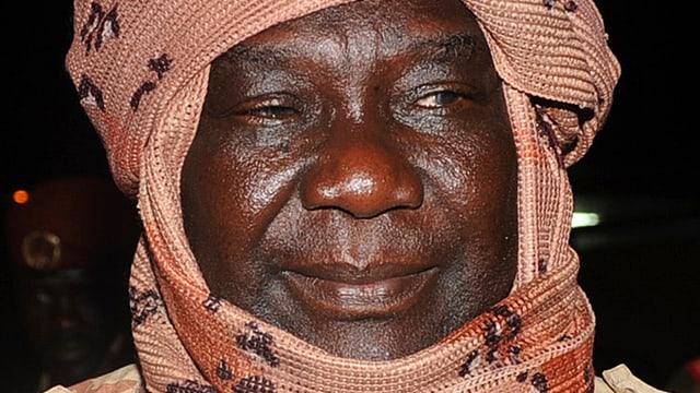 Portrait des Rebellenführers und neuen Präsidenten Zentralafrikas Michel Djotodia.
