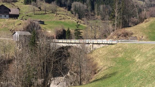 Die heutige Chrutacherbrücke über die Waldemme