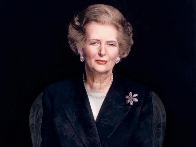Porträt von Margaret Thatcher.